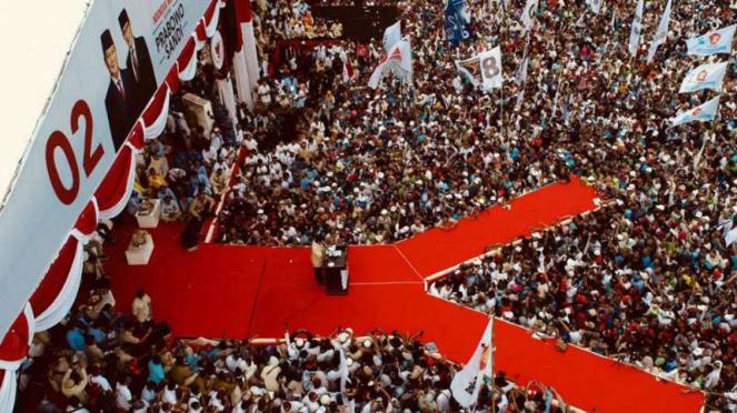 Kampanye akbar Prabowo-Sandi di Gelora Delta Sidoarjo, Jawa Timur.