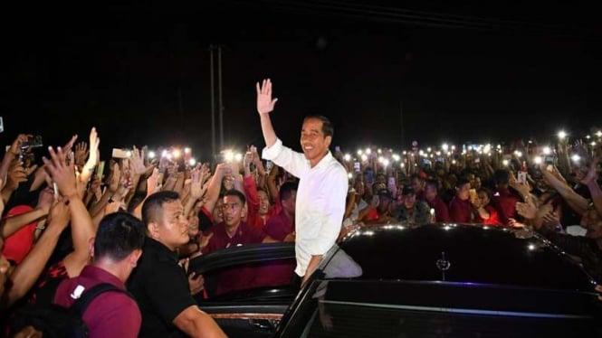 Presiden Jokowi saat di Kota Manado