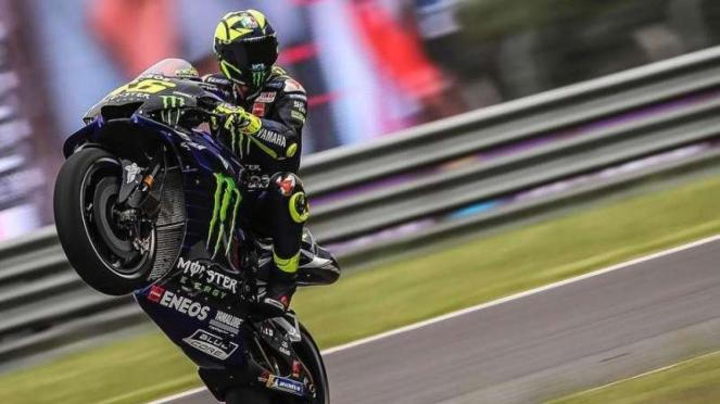 Pembalap Tim Monster Yamaha, Valentino Rossi