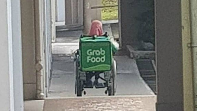 Driver disabilitas GrabFood