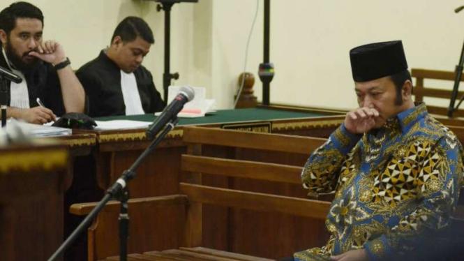Bupati nonaktif Lampung Selatan, Zainudin Hasan.