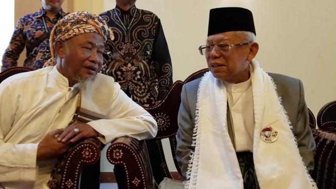 Maruf Amin (kanan) pada tahun 2019