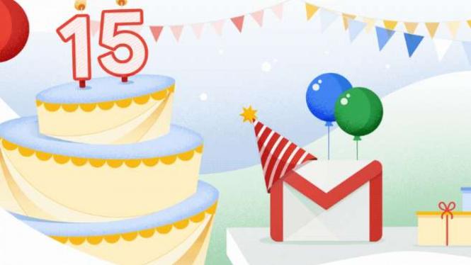 Gmail ulang tahun ke-15
