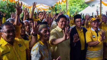 Ketum Airlangga Hartarto bersama elite partai Golkar.