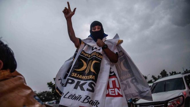 Kampanye pendukung PKS di Pemilu 2019 beberapa waktu lalu.