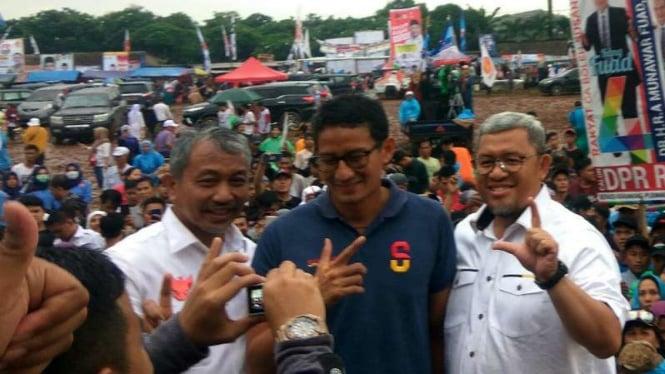 Cawapres nomor urut 02 Sandiaga Uno dan Politikus PKS, Ahmad Heryawan