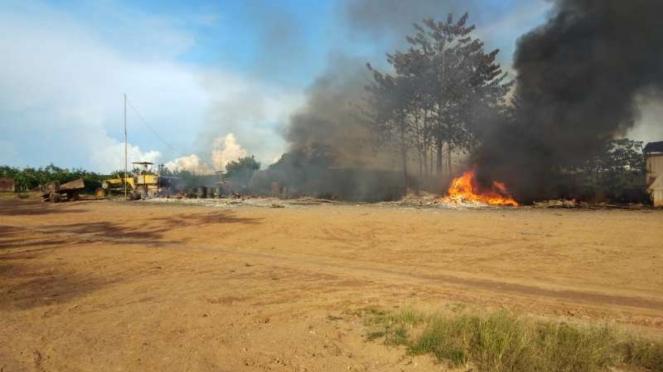 Base camp perusahaan perkebunan PT Samhutani di Kabupaten Sarolangun, Jambi, dil
