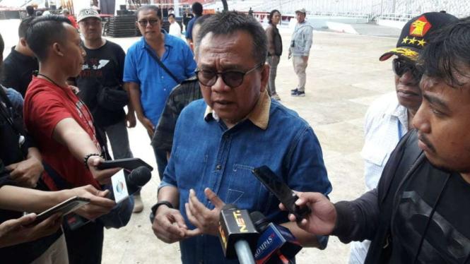 Ketua DPP Gerindra DKI Jakarta, Muhammad Taufik di GBK.