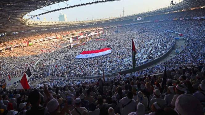 Kampanye Akbar Prabowo-Sandi di SUGBK Jakarta