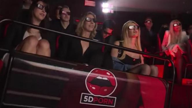 Bioskop Film Porno 5D di Amsterdam, Belanda.