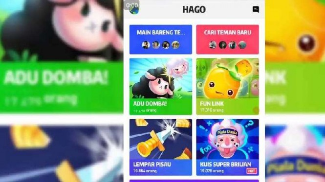 Aplikasi game Hago.