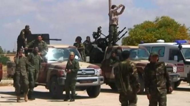 Pasukan Jenderal Khalifa Haftar bersiap untuk bertempur di Tripoli, Libia