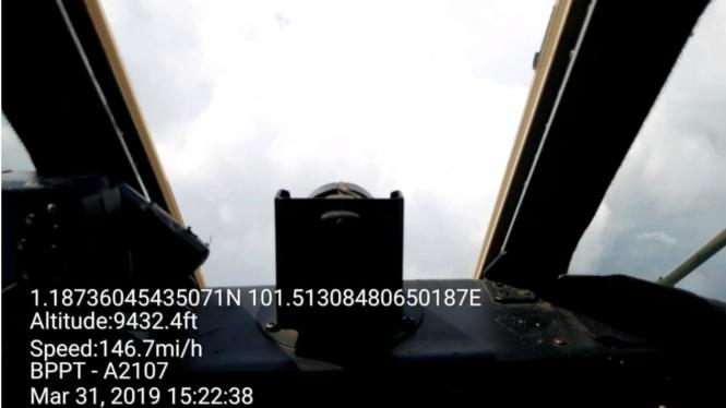 Penyemaian awan oleh pesawat TMC BPPT