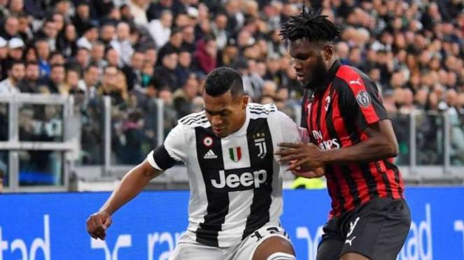 Pertandingan Serie A antara Juventus kontra AC Milan