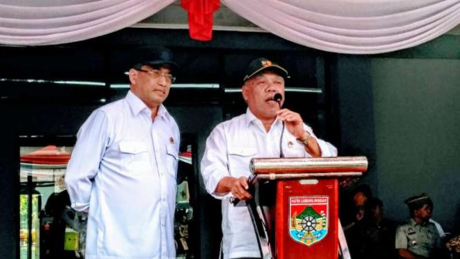 Menteri PErhubungan Budi Karya Sumadi dan Menteri PUPR Basuki Hadimuljono.