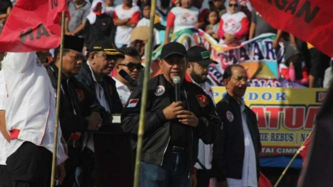 Belasan kepala daerah di Sumatera Barat kampanye dukung Jokowi-Maruf.