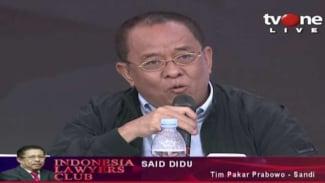 Said Didu Tim Pakar Prabowo - Sandi di acara ILC