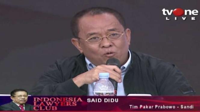 Said Didu saat tampil di acara ILC tvOne beberapa waktu lalu.