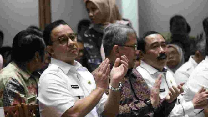 Gubernur DKI Jakarta Anies Baswedan dalam Musrenbang di Balai Kota.