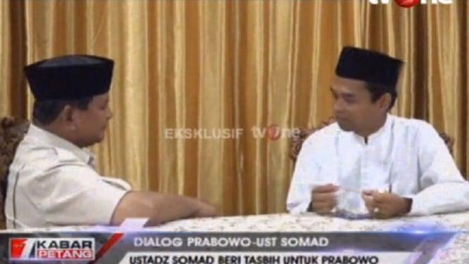 Pertemuan Prabowo dan Ustaz Abdul Somad