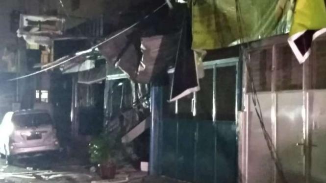 Lokasi ledakan gas di Medan
