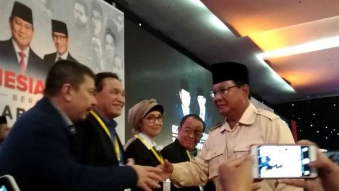 Prabowo Subianto kampanye di Surabaya.