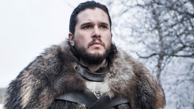 Jon Snow (Kit Harington) dalam Game of Thrones Season 8.
