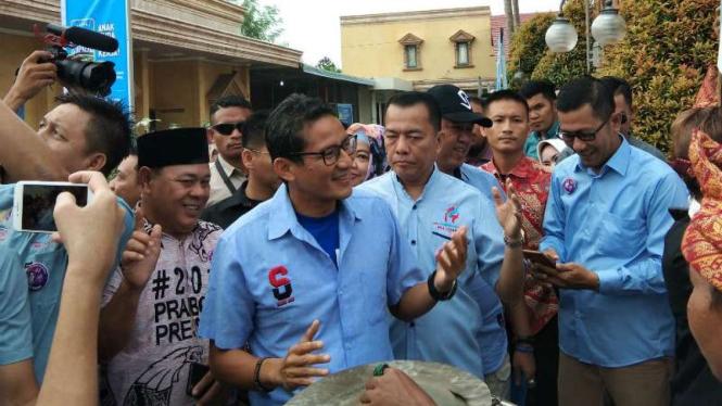 Sandiaga Uno kampanye di Palembang.