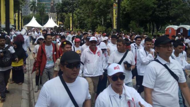 Mantan Gubernur DKI Jakarta Djarot Saiful Hidayat hadiri kampanye Jokowi-Ma'ruf.