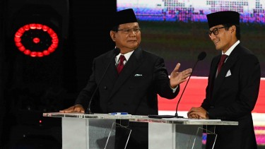Pasangan nomor urut 02 Prabowo Subianto dan Sandiaga Uno.