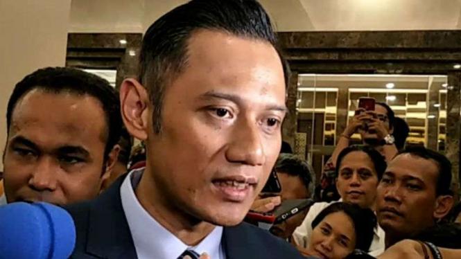 Agus Harimurti Yudhoyono, usai acara debat terakhir, Sabtu malam, 13 April 2019.