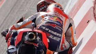Pembalap Repsol Honda Marc Marquez.