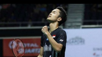 Anthony Sinisuka Ginting juarai Singapore Open 2019.