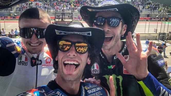Alex Rins menjadi juara MotoGP Amerika 2019