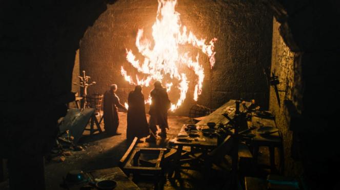 Tormund Giantsbane, Beric Dondarrion dan Dolorous Edd di Game of Thrones.
