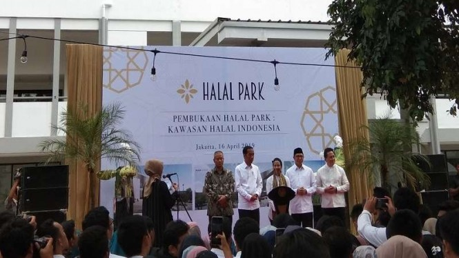 Presiden Jokowi meresmikan miniatur Halal Park