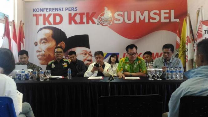 Konferensi pers TKD Jokowi Maruf Sumatera Selatan