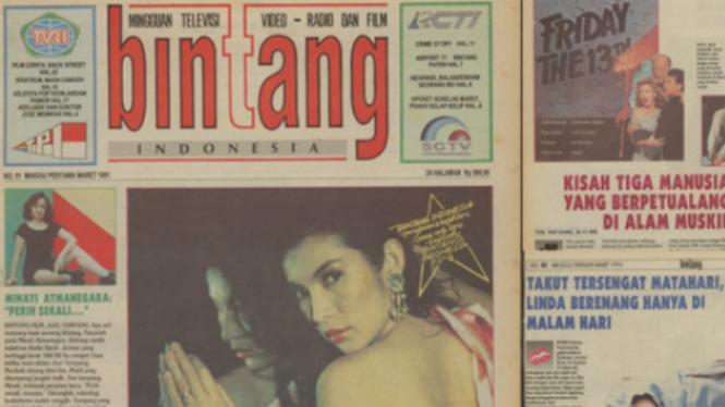 Edisi pertama tabloid Bintang Indonesia.