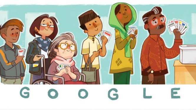 Doodle Google edisi Pemilu 2019