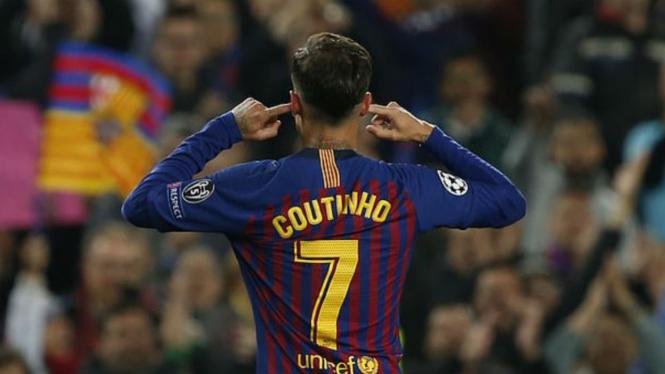 Gelandang Barcelona, Philippe Coutinho.