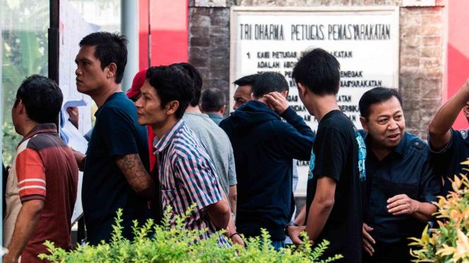 Warga binaan di Lapas Sukamiskin, Bandung, Jawa Barat.