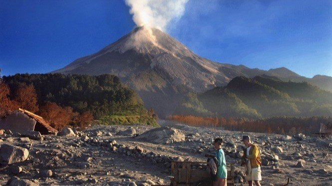 ILUSTRASI Gunung Merapi.