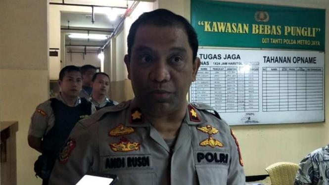 Kasubdit Harwatah Dittahti Polda Metro Jaya, Kompol Andi Rusdi.