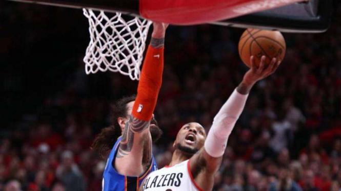 Laga Playoff NBA antara Oklahoma City Thunder kontra Portland Trail Blazers