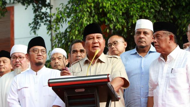 Prabowo Tanggapi Hasil Hitung Cepat