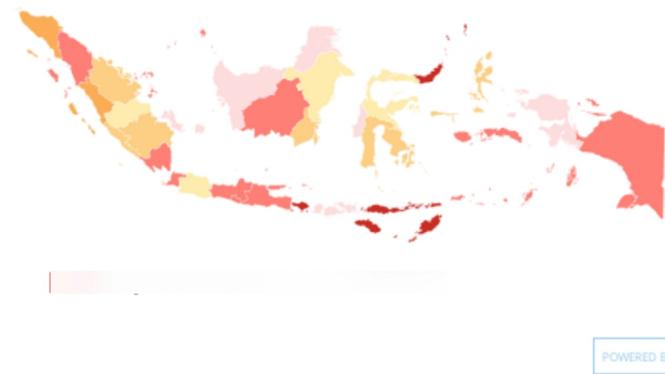 Peta sebaran suara Jokowi dan Prabowo per provinsi di KawalPemilu2019