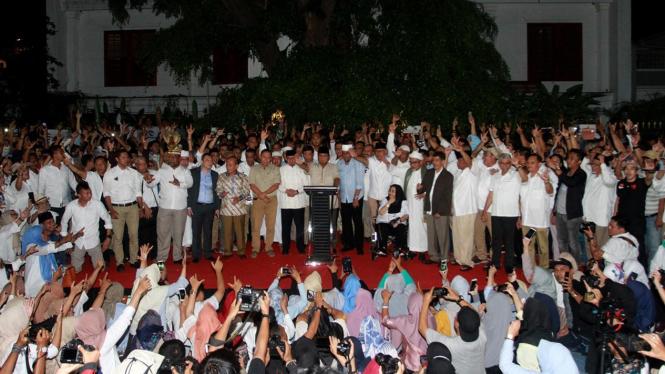 Prabowo Subianto dan tim koalisi
