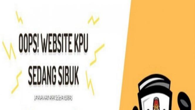 Tampilan website KPU saat sibuk