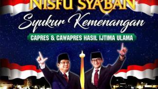Acara Gema Nisfu Syaban, digelar untuk merayakan kemenangan Prabowo-Sandi.