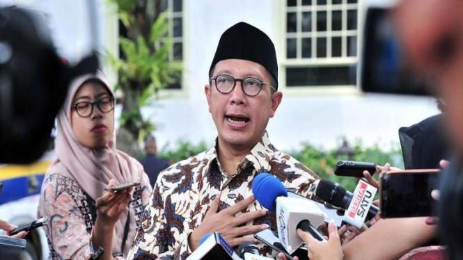 Menteri Agama Lukman Hakim Saifuddin di Istana Negara. Kamis, 18 April 2019.